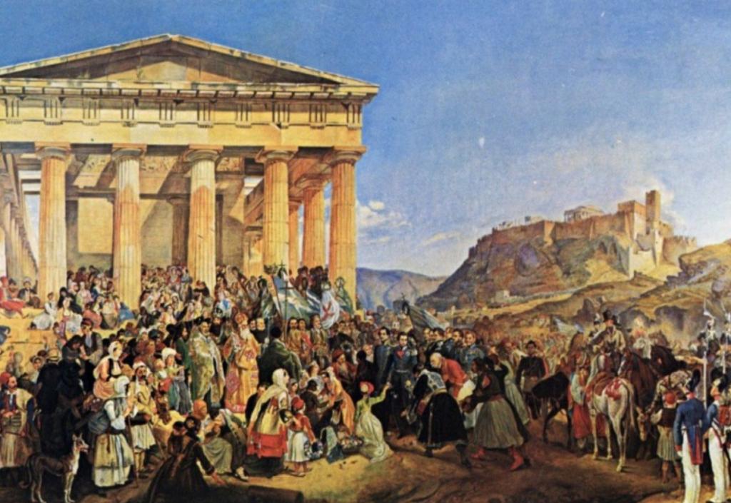Peter von Hess, Empfang König Ottos von Griechenland in Athen, 1839