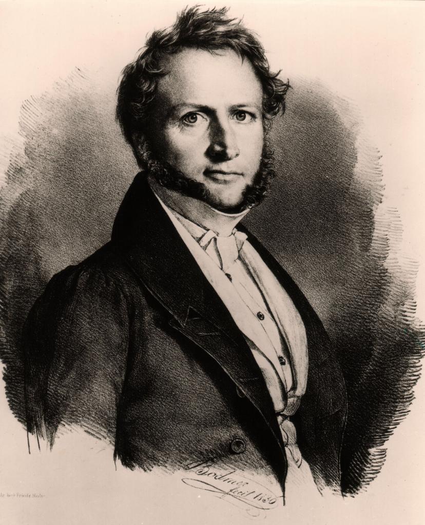 Georg Ludwig von Maurer, Lithografie von Gottlieb Bodmer (1836).