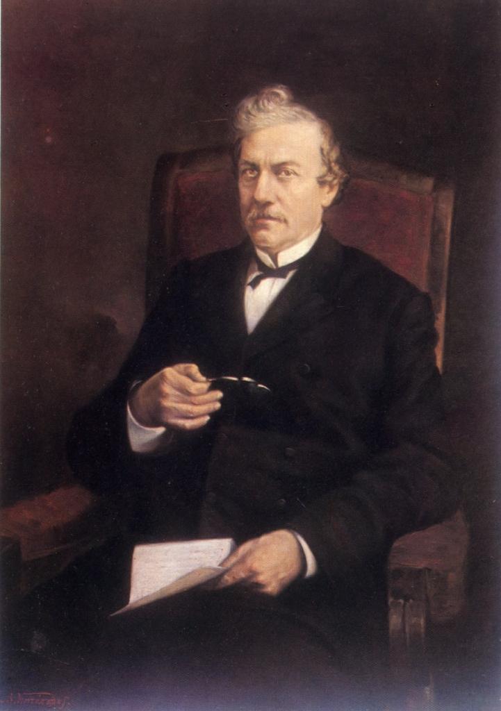Konstantinos Paparrigopoulos. Porträt von Byronas Kontopoulos, um 1891, Ölgemälde.