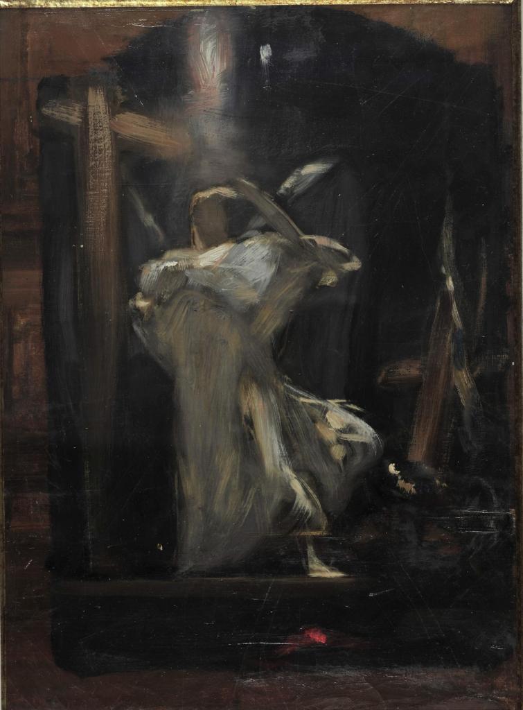 """Nikolaos Gysis, Entwurf eines """"Erzengels"""" aus dem """"Triumph der Religion"""", 1894-1895"""